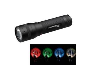 LED Lenser P7QC - 220 lumens Quad Colour LED torch - Gift boxed with Holster