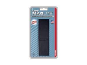 Mini Maglite AA nylon holster - Black - velcro full flap closure