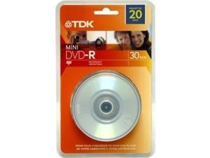 TDK 48776 1.4GB MINI DVD-R 4X 20PK SPN
