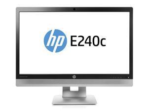 "HP EliteDisplay E240c 23.8"" Black, Silver Full HD Matt"
