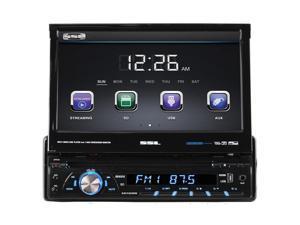 "Sound Storm Laboratories Soundstorm 7"" Single Din DVD Receiver Motorized touchscreen with detachable Face Bluetooth"