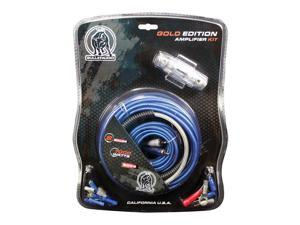 Xscorpion AMPLIFIER WIRING KIT 8GA&#59;BULLZAUDIO&#59;BLUE/PLATINUM&#59;BLISTER PK