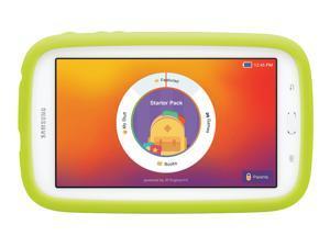 "Samsung Galaxy Tab 3 Lite Kids Edition (7.0"" Cream White with Green Bumper)"