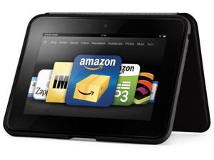 kindle fire HD Standing Leather Cover - Black