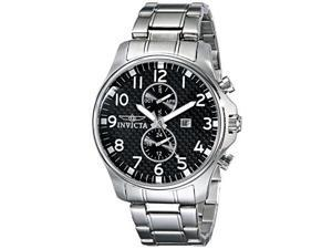 Men's Invicta II Black Carbon Fiber Dial Stainless Steel
