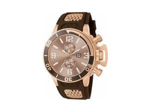 Invicta Men's 80312 Corduba Gold Dial Brown Polyurethane Watch [Watch] Invicta