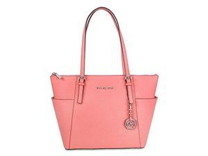 MICHAEL Michael Kors Jet Set East West Top Zip Tote (One Size US Women, Coral)