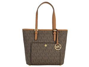 Michael Kors Medium Jet Set Top Zip Tote - Brown