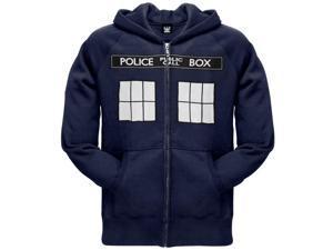 Doctor Who - Large Tardis Zip Hoodie