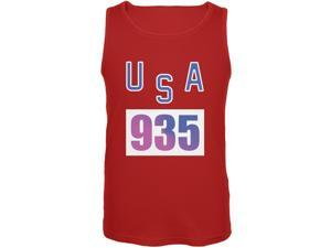 Team Bruce Jenner USA 935 Olympic Costume Red Adult Tank Top