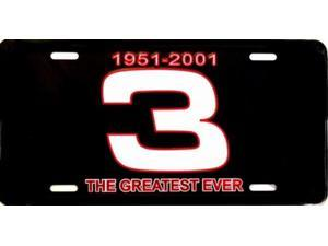 Dale Earnhardt 1951-2001 #3 Greatest License Plate