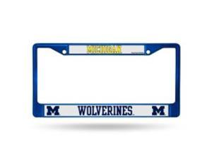 Michigan Wolverines Anodized Blue License Plate Frame  Free Screw Caps with this Frame