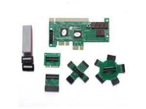PC Laptop Motherboard Analyzer Diagnostic Test Card PCI PCIE LPC Mini PCIE ship from US