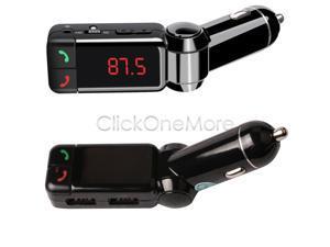 Wireless LCD Bluetooth Car Kit MP3 FM Transmitter SD USB Charger - Handsfree