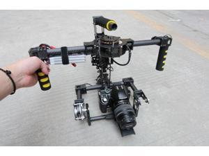 3 Axis Brushless Gimbal Carbon Handle Camera Stabilized W/motor ,Run Movie video