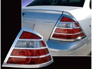 2005-2007 Mercury Montego 2pc. Luxury FX Chrome Taillight Bezel Set
