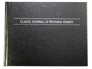 Classic Journal of Notarial Events - Hard Cover Notary Journal