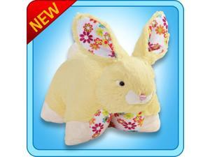 """Authentic Pillow Pets Bunny Bouncy Yellow Large 18"""" Plush Toy Gift"""