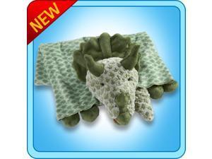 Authentic Pillow Pet Dinosaur Dino Green Blanket Plush Toy Gift