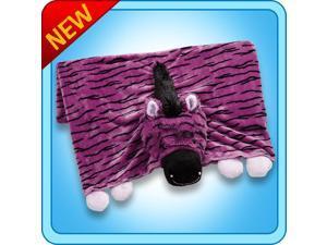 Authentic Pillow Pet Zany Zebra Purple/Black Blanket Plush Toy Gift