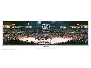 NHL New Jersey Devils 1995 Stanley Cup Champions Heaven - 13.5x39 Panoramic Poster with Black Metal Frame #4006