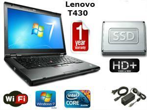"""Lenovo Thinkpad T430 - i5-3320M 2.6GHz - 16GB Memory - 160GB SSD - 14"""" HD+ 1600x900 Windows 7 Pro 64 - 1 YEAR WARRANTY"""