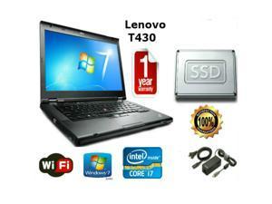 """Lenovo Thinkpad T430 - i7-3520M 2.9GHz - 16GB Memory - 256 GB SSD - 14"""" HD Windows 7 Pro 64 - 1 YEAR WARRANTY"""