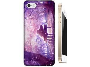 Music in the for Apple Accessories iPhone 5/5Sest Purple trees cell phone cases for Apple Accessories iPhone 5/5S