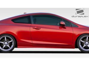 2012-2014 Honda Civic 2DR Duraflex H-Sport Side Skirts Rocker Panels - 2 Piece
