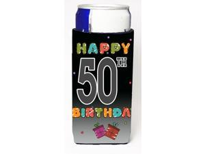 Happy 50th Birthday Ultra Beverage Insulators for slim cans CJ1124MUK