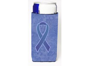 Periwinkle Blue Ribbon for Esophageal and Stomach Cancer Awareness Ultra Beverage Insulators for slim cans AN1208MUK