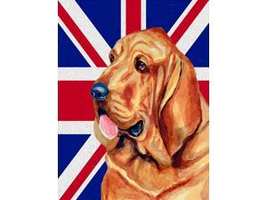 Bloodhound with English Union Jack British Flag Flag Canvas House Size LH9483CHF
