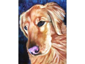 Golden Retriver Huh Flag Canvas House Size 7384CHF