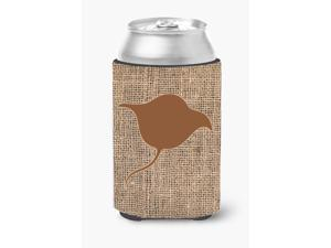 Stingray Burlap and Brown Can or Bottle Beverage Insulator Hugger