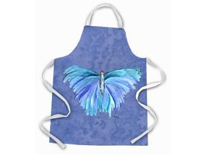 Butterfly on Slate Blue Apron