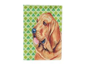 Bloodhound St. Patrick's Day Shamrock Portrait Flag Canvas House Size