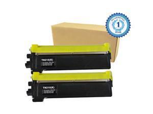 2PK TN210 TN-210BK Black Toner Cartridge for Brother HL-3040CN HL-3045 HL-3070CW HL-3075 MFC-9010CN MFC-9120CN MFC-9125 MFC-9325