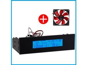 "STW Pc Case 5 25"" Bay LCD Digital Display Temperature Controller Panel 1 Channel Fan Speed Controller"