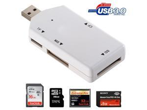 STW High Speed Usb 3.0 All in 1 Card Reader Support Sdxc, Sdhc, Sd, Cf, High-speed Cf (Udma), Ms, M2, Micro Sdxc, Micro Sdhc, Micro Sd Cards