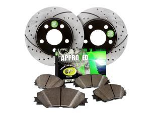 1999 Oldsmobile Cutlass Supreme  Approved Performance G21682 - [Front Kit] Performance Drilled/Slotted Brake Rotors and Carbon Fiber Pads