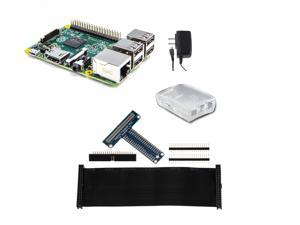 Raspberry Pi 2 Tinker Kit - Raspberry Pi 2 900MHz Quad-Core / 1GB RAM w/Frost Case, Adafruit T-Cobbler (Unassembled) & 5v 11W PSU