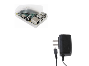 Raspberry Pi 2 Basics Kit - 900MHz Quad-Core w/1GB RAM - Frost Case & PSU