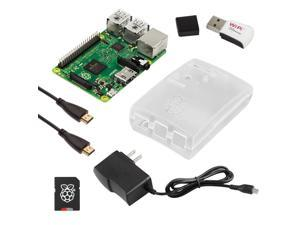 RaspberryPiCafe Raspberry Pi 2 Select Kit - w/Frost Case, 5v 2A PSU, WiPi WiFi Adapter, 6' HDMI Cable and 8GB SanDisk MicroSD Card w/NOOBS Preloaded