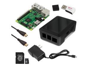 RaspberryPiCafe® Raspberry Pi 2 Select+ Kit w/Deluxe Black Modular Case, 5v 2A PSU, WiPi WiFi Adapter, 6' HDMI cable and 8GB SanDisk® MicroSD Card w/NOOBS Preloaded