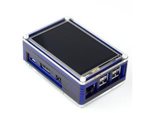 "PiTFT Plus Pibow Case for Raspberry Pi 2 and Adafruit 2.8"" or 3.5"" PiTFT Plus Display"