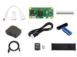 Raspberry Pi Zero Bundle w/Pi Zero, 8GB MicroSD, Adafruit T-Cobbler Plus, 5.25V 1A PSU, Mini-HDMI to HDMI Adapter, 6' HDMI Cable, USB OTG Cable