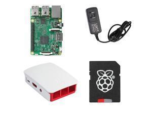 MakerBright Raspberry Pi 3 Essentials Kit w/Raspberry Pi 3, Official Raspberry Pi Case, 5.25v 2.4A MicroUSB PSU, 8GB SanDisk Ultra MicroSD w/NOOBS