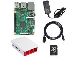 MakerBright Raspberry Pi Deluxe Kit w/Raspberry Pi 3, Official Raspberry Pi Case, 5.25v 2.4A MicroUSB PSU, 8GB SanDisk Ultra MicroSD Card, 6' HDMI 1.4 Cable