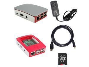 Fully Assembled Raspberry Pi 3 Deluxe Kit w/Raspberry Pi 3, 5.25v 2.4A PSU, 8GB Class 10 MicroSD w/NOOBS, Official Raspberry Pi Case and 6' HDMI v1.4 Cable
