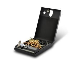 Fingerprint Safe Box for Valuables | Biometric Security Case